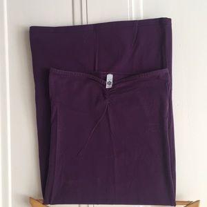 American Apparel Purple Strapless Dress Size M
